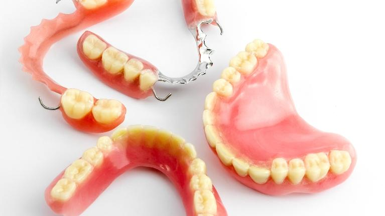 image of full and partial dentures charlotte nc